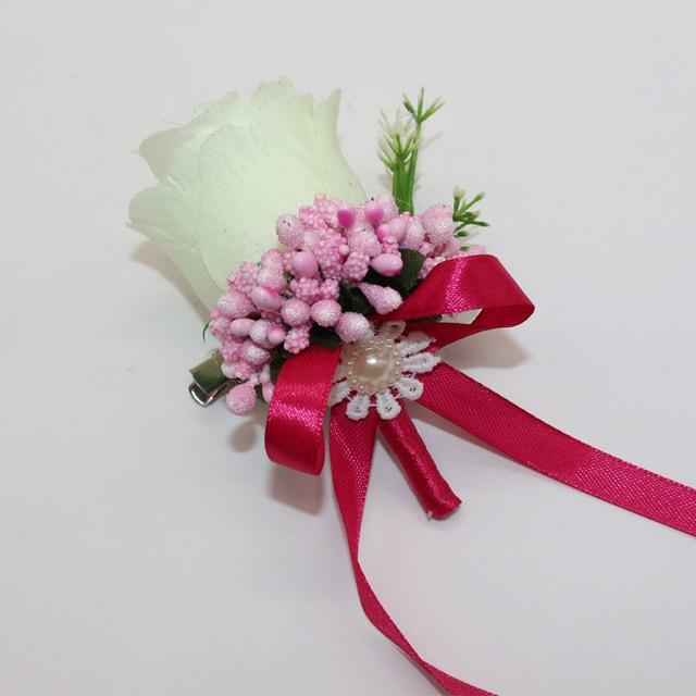 Online shop handmade guest boutonniere pin silk rose artificial image mightylinksfo