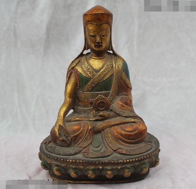 R0720 Details about 7China Chinese Buddhism Folk Old Purple Bronze Tsongkhapa Buddha Statue (B0328)R0720 Details about 7China Chinese Buddhism Folk Old Purple Bronze Tsongkhapa Buddha Statue (B0328)