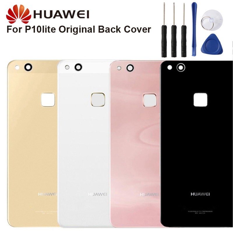 Original <font><b>Huawei</b></font> <font><b>Battery</b></font> Glass Back Cover Case For <font><b>Huawei</b></font> P10 lite <font><b>P10lite</b></font> Nova lite Door Rear Housing Back Cover Protective Case image