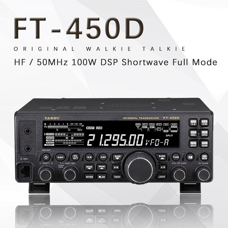Car-Radio-Transmitter Yaesu Power Shortwave Hf/50mhz 100W FT-450D Full-Mode Suitable-For
