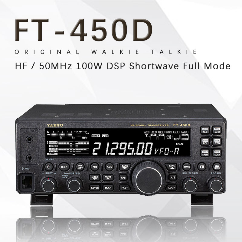 Suitable For Yaesu FT-450D HF / 50MHZ Shortwave Full Mode 100W Power Car Radio Transmitter