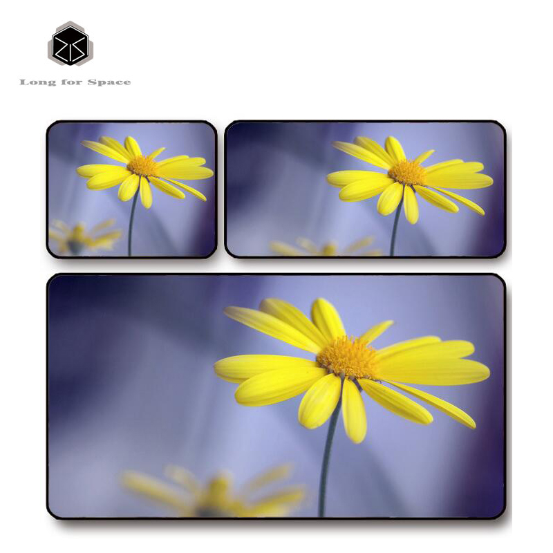 SJLUHS Yellow Daisy Plant Mouse Pad Lock Edge Creative Thickening Game Keyboard Table Pad Free Shipping