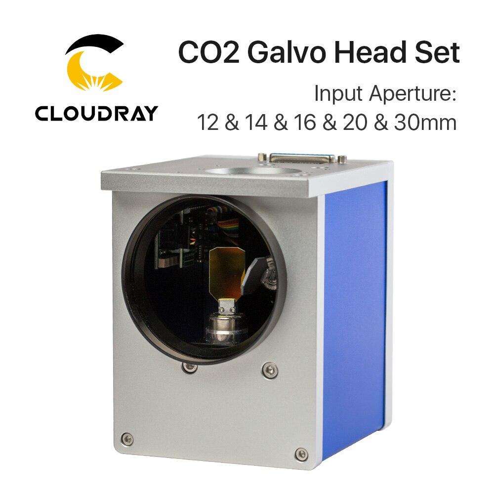 Cloudray CO2 di Scansione Laser Galvo Testa 10.6um Apertura di Ingresso 10mm 12mm 16mm 20mm 30mm Galvanometro scanner con Alimentazione