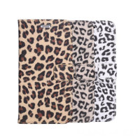Leopard Pattern Skin With Card Holder Stand Wallet Case For IPhone 6 Plus 5 5 Inch