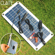 CLAITE 10.5W 18V Polycrystalline Solar Panel Charger Sunpower Solar Cells For Camping Car 12V Battery 5V Mobile Phone Solarparts