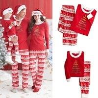 Adult Kids Family Matching Pajamas Xmas Sleepwear Nightwear Set Christmas Paternity Suit Unisex Baby Girls And