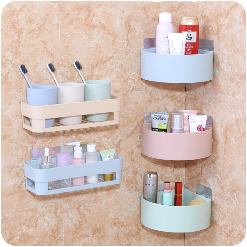 Wall Mounted Storage Bathroom Corner Shelf Household Home Bathroom dewatering screen Storage Shelf water Storage basket