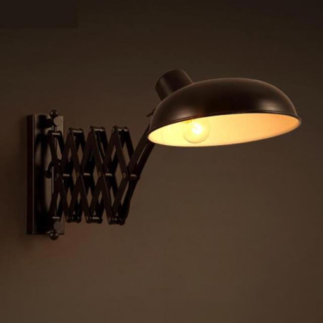 Entrepôt Rustique Rétractable Mur Lampe Loft Fer Bar lumière ...
