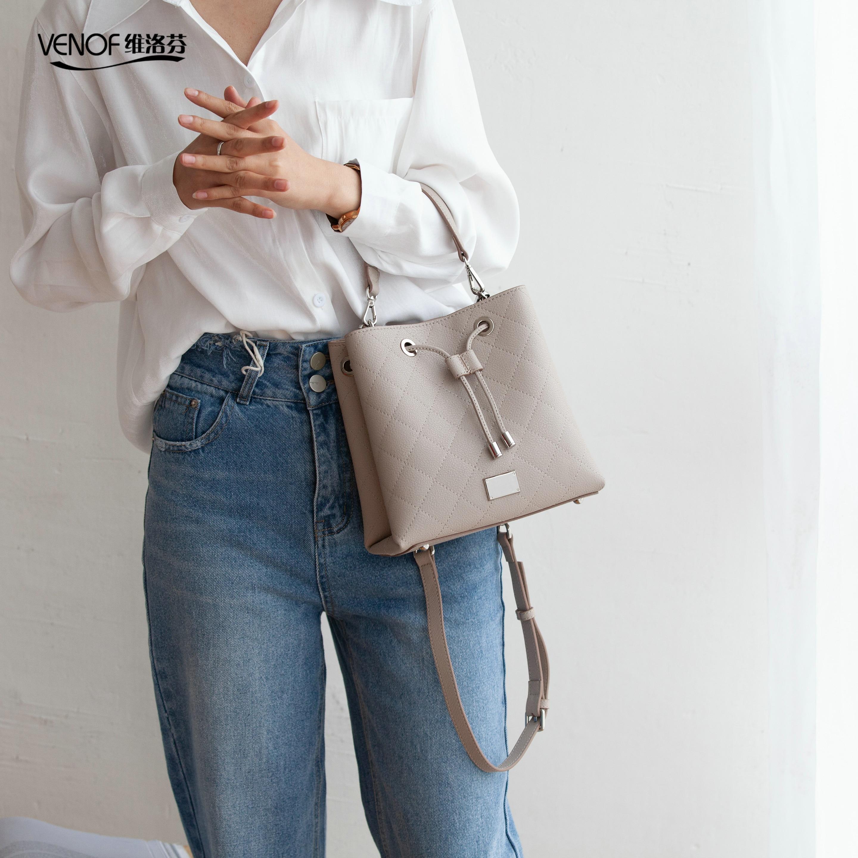VENOF 2019 diviso borse in pelle per le donne di modo squisito femminile di spalla crossbody borse borse di lusso borse delle donne del progettista-in Borse a tracolla da Valigie e borse su  Gruppo 3