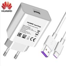 Ban Đầu Huawei 4.5V 5A Siêu Bền Sạc Nhanh 22.5W 40W Cho P20 Pro P30 P40 Lite Giao Phối 10 giao Phối 20 30 Pro 5A Loại C Cáp