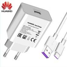 Huawei original 4.5v 5a supercharge carregador rápido 22.5w 40w para p20 pro p30 p40 lite companheiro 10 companheiro 20 30 pro 5a tipo c cabo