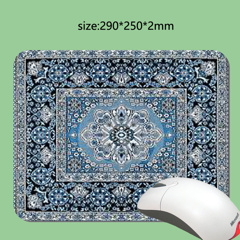 DIY Farsça halı 3D hızlı baskı mouse pad size180 x220x2mm veya 290x250x2mm özel kauçuk oyun dizüstü bilgisayar mouse pad