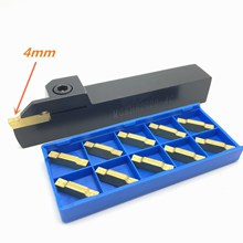 grooving tool holder MGEHR1616/2020/2525-4 CNC lathe positive angle outer knife +10PCS MGMN400 tools