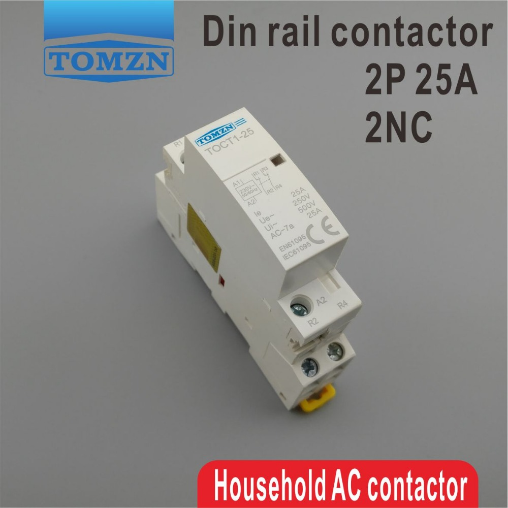 TOCT1 2P 25A 2NC 220V/230V 50/60HZ Din rail Household ac Modular contactor two normal close холодильник pozis rk 103 белый