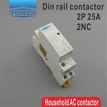TOCT1 2P 25A 2NC 220V 230V 50 60HZ na szynę Din domowy ac stycznik modułowy dwa normalne zamknij tanie i dobre opinie TOMZN Other CT1-25-2P