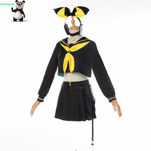 Image 2 - CosplayLove Vocaloid MAGIQUE MIRAI 10th Anniversaire Live Concert Vocal Kagamine Rin Cosplay Costume For Girls Custom Made