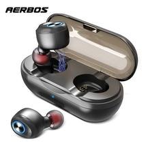AERBOS Tws 5.0 Wireless Earphone Earbuds Phone Power Bank Bluetooth Earphones 1000mah Deep Bass Stereo Hi-fi Sport Headset