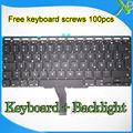 "Brand New For MacBook Air 11.6"" A1370 A1465 German Deutsch QWERTZ Tastatur Keyboard+Backlight Backlit+screws 2010-2015 Years"