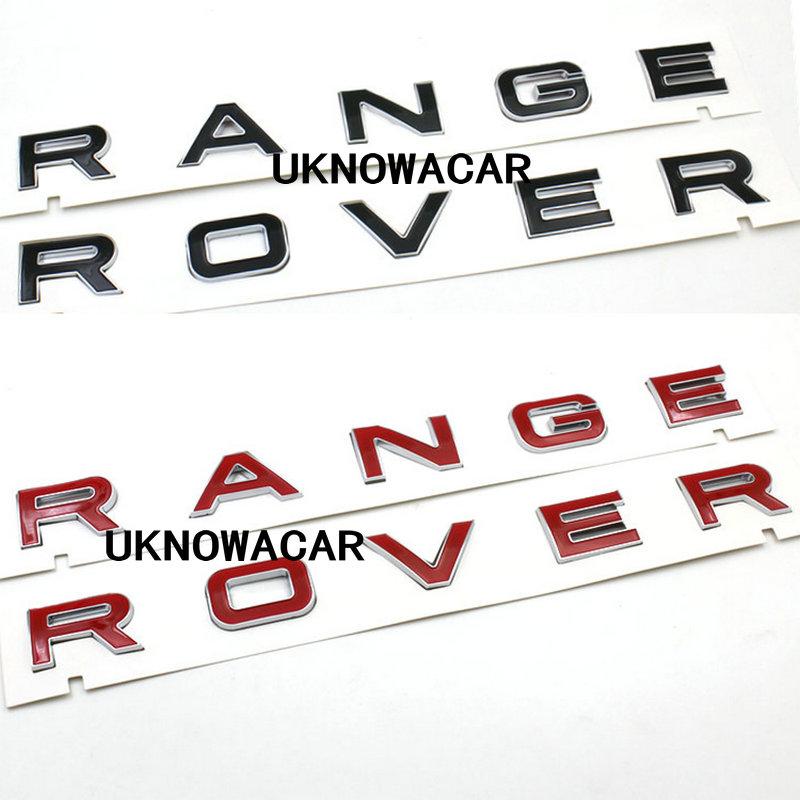 новый высокое качество черный, красный 3д надпись спереди письмо знак эмблема наклейки ожерелье Tip знак для диапазона Ровер