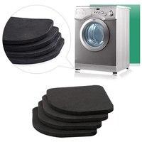 Esteira multifuncional da vibração de 4 pces anti para almofadas da máquina de lavar do refrigerador|Peças para máquina de lavar| |  -