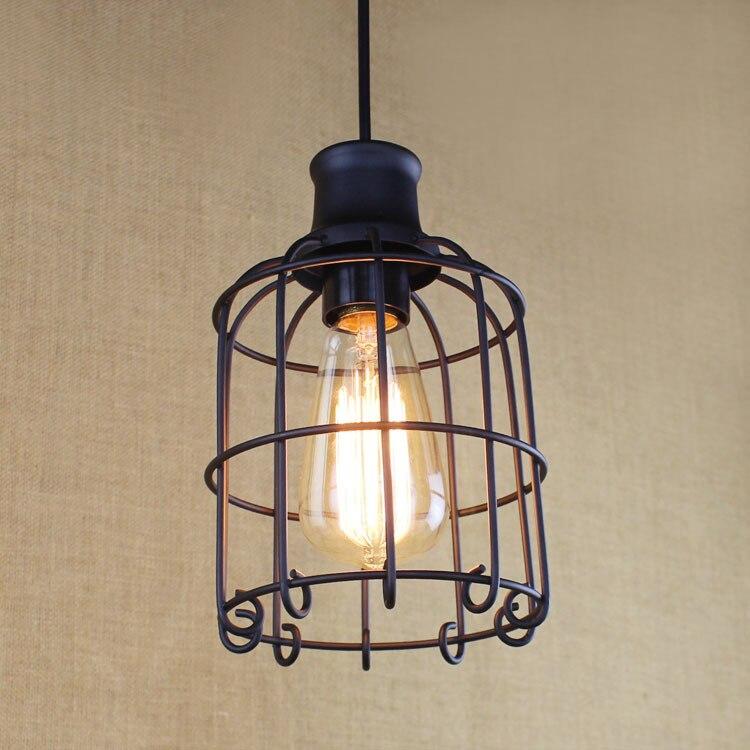Bird Cage Retro Indoor Lighting Vintage Pendant Light LED lights Industrial Lofter Style Light Fixture E27