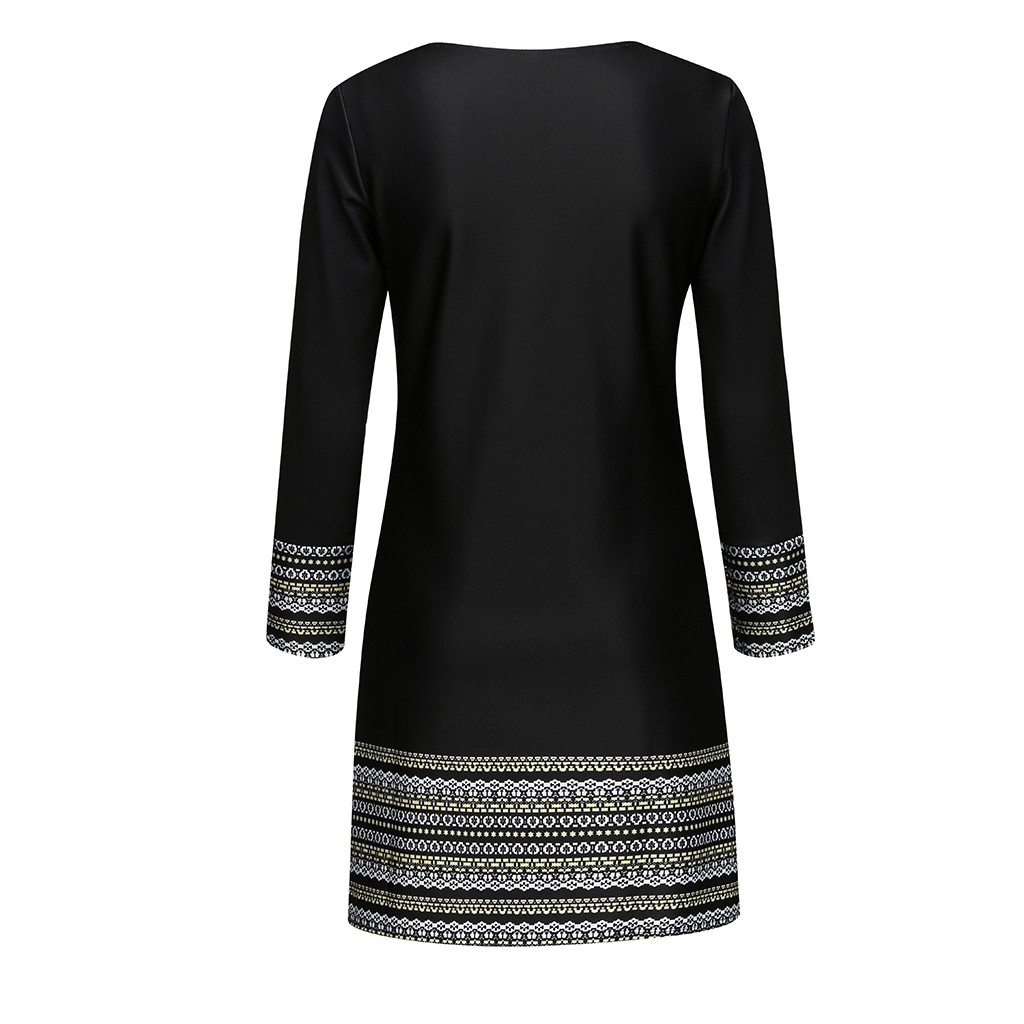 vestido de mujer Women Vintage Off Shoudle Elegant Splice Casual Dress femme robe