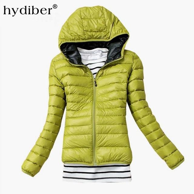HYDIBER 2017 New Brand Fashion Hooded Parkas Winter Female Jacket Women Clothing Winter Coat Black Overcoat Women Jacket 538TN