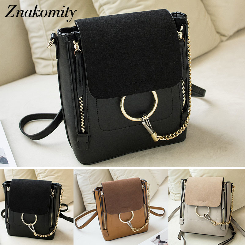 Znakomity Luxury small women leather backpack female Black backpack shoulder bag casual Fashion pu leather tote bag backpack jxsltc womens pu leather rivet backpack female backpack for adolescent girl casual small backpacks women pouch fashion lady bag