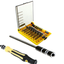 45 in 1 Precision Torx Screwdriver Cell Telephone Restore Software Set Tweezer Package  For Cellular Telephone Software Package