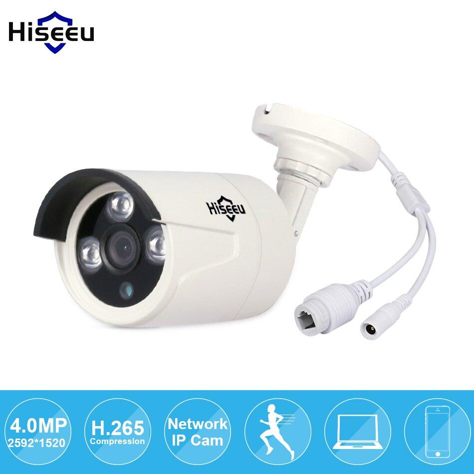 bilder für Hiseeu H.265 Sicherheit Ip-kamera HI3516D + OV4689 4MP Im Freien Wasserdichte Cctv-kamera P2P Bewegungserkennung E-mail Alarm ONVIF 48 V PoE