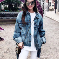 Top QualityFashion Denim Jackets for Women Designer Top Quality Loose Casual Coat for Women