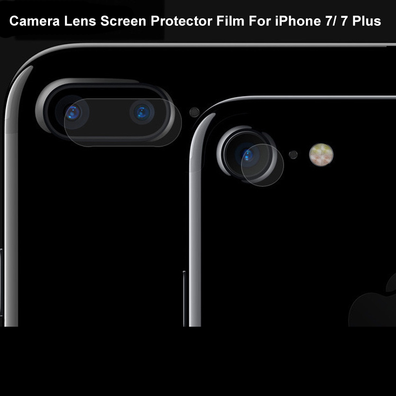 5pcs/lot Back Transparent Camera Lens Tempered Glass Film For iPhone 7 8 Plus Pr