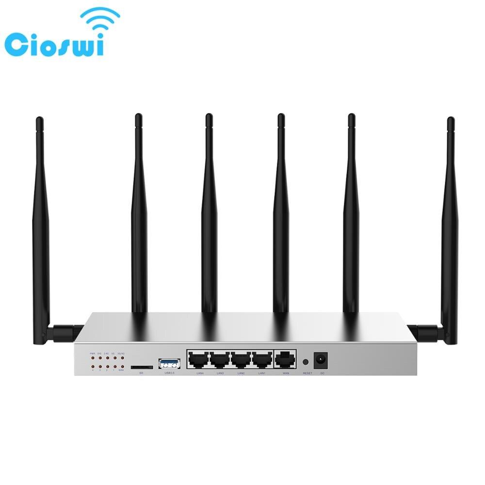 Routeur Wifi sans fil Cioswi 3G 4G Lte avec emplacement pour carte SIM routeur Gigabit double bande 1200 Mbps