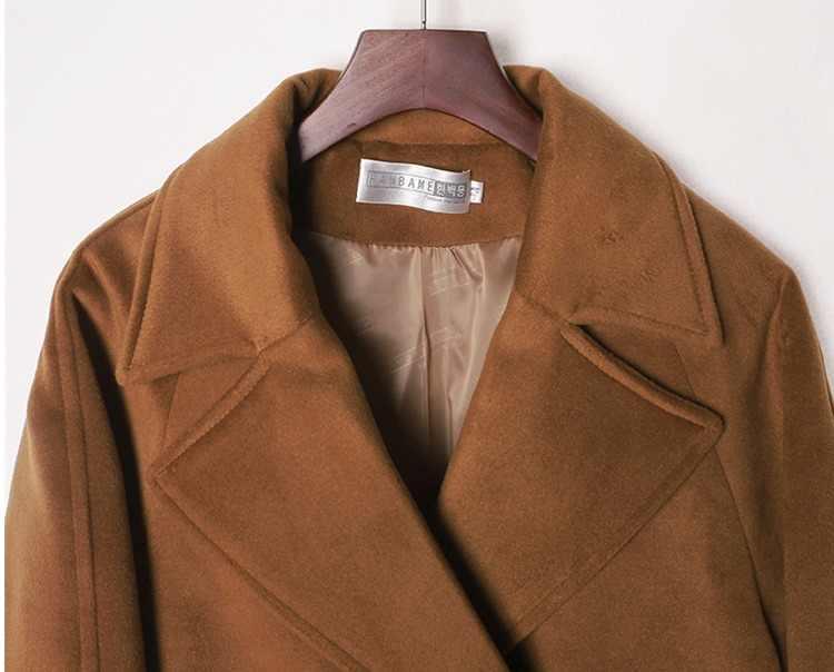Для женщин длинные Шерстяное пальто Тренчи для женщин Новинка зимы Дизайн модные Винтаж верблюда, кашемира толстый длинный Для женщин Шерстяные пиджаки H265