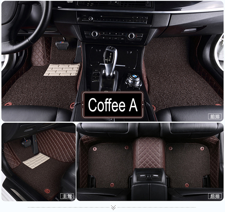 Car floor mats for BMW Z4 E85 E89 Leather heavy duty 5D car styling all weather carpet liners(2002-nowCar floor mats for BMW Z4 E85 E89 Leather heavy duty 5D car styling all weather carpet liners(2002-now