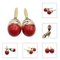 Lightweigh Wooden Egg Rattles Toys Maraca Kids Childrens Musical Instrument Gift Sound Shaker Toy For Children