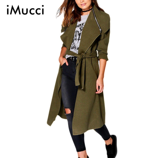 Mais recente Inverno Trench Coat para Mulheres Casual Manga Comprida Turn-down Collar Longo Trench Coat De Lã Das Mulheres Plus Size Sobretudo as mulheres