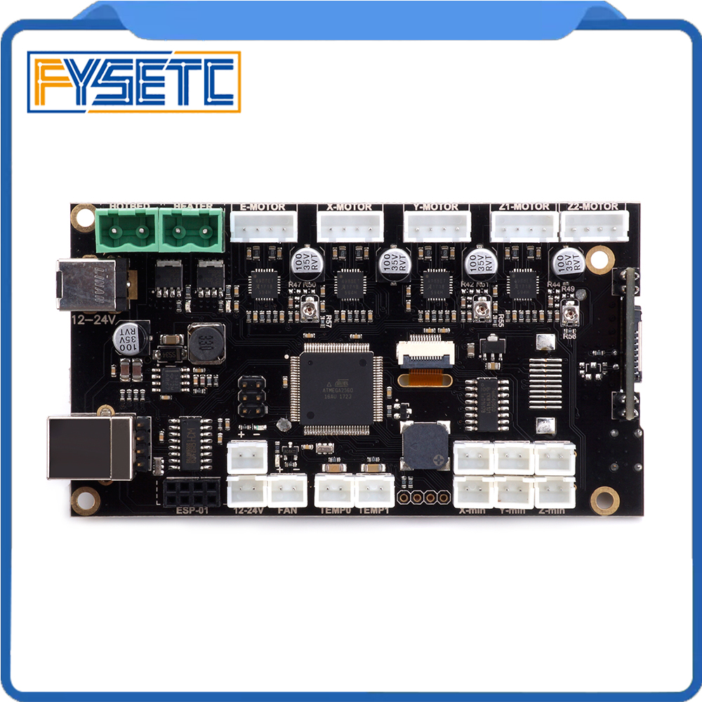 3D Printer Mainboard ONE+ V2.2 Board Controller Motherboard Suitable For Wanhao I3 Mini 3D Printers Compatible With RAMPS 1.4 3d принтер wanhao i3 mini