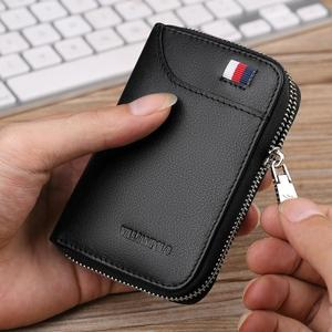Image 2 - WilliamPOLO 2019 Mens Wallet Accordion Credit Card Holder Genuine Leather Multi Card Case Organizer Coin Purse Short Zip Around