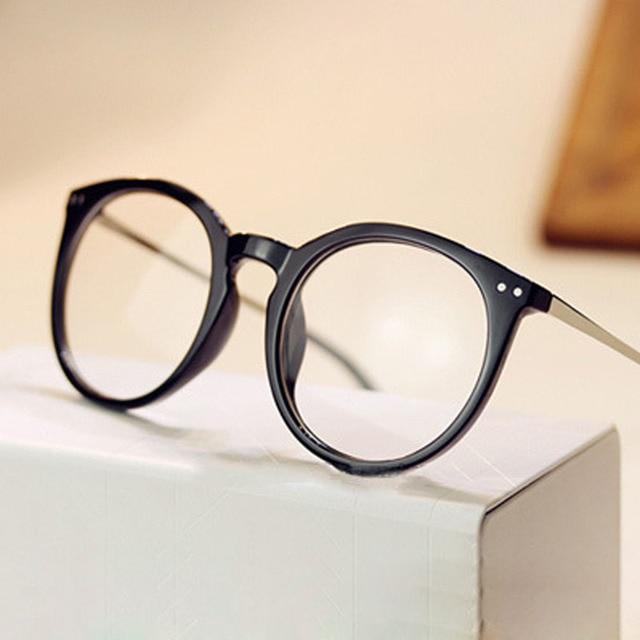 2017 Armações de óculos baratos Mulheres Vidros do Olho Óptico óculos  Quadro Miopia De Metal Redondo f0c633fb03