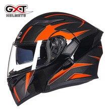Venta caliente GXT 902 Modular Tirón Encima Casco de La Motocicleta Casco de Moto con Seguridad Interior Visera Doble Lente Racing Cascos Integrales