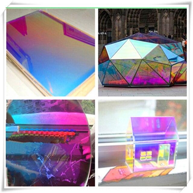26mic jrb 2690 01 magic iridescet rainbow dichroic film for rain coat umbrella outdoor van