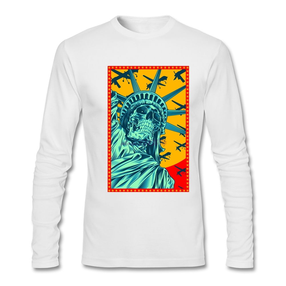 Shirt design website cheap - Males Organic Cotton Winter Cloth Capable Drone World Men Tees Man Round Collar Full Sleeves Custom Shirt Design Website