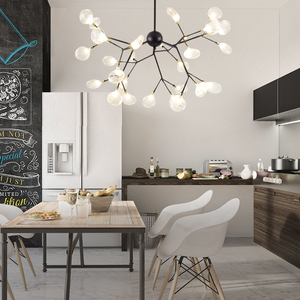 Image 3 - Modern firefly LED Chandelier light stylish tree branch chandelier lamp decorative firefly ceiling chandelies hanging Lighting