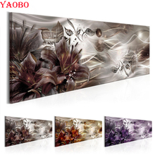 Moderne Abstrakte Mosaik Malerei diy diamant malerei kreuz stich Lilien Blume Volle Harz platz/runde bohrer Diamant Stickerei