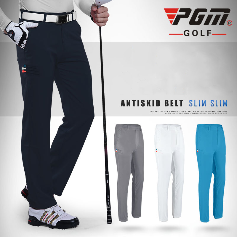 PGM Colorful Golf Pants For Men Solid Nylon Winter ...