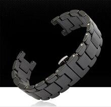Ремешок для часов Керамические Черный Ремешки Для Наручных Часов 20 мм Ремешок Вогнутая интерфейс Прочные Связи Бабочки Пряжки Новый Высокое качество Браслеты для Часов