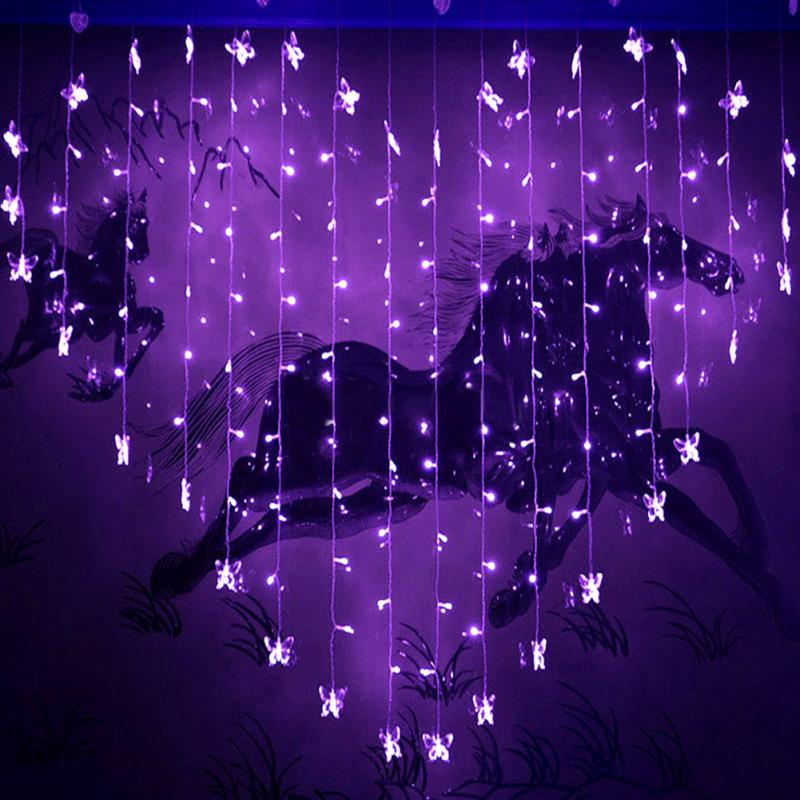 2M LED curtain icicle string lights Butterfly led fairy lights Christmas lamps Icicle Li ...