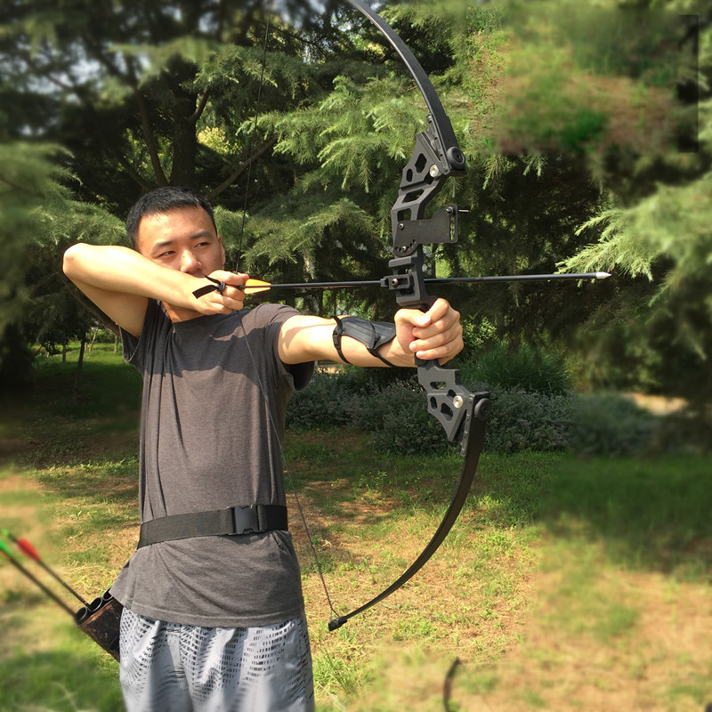 Howsports Professional Recurve Bow 30-45 Lbs Powerful Bow  Hunting Archery Compound Bow Arrow Outdoor Fishing Bow For Shooting