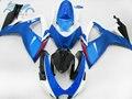 Корпус инжектора для Suzuki GSXR 600 2006 2007 K6 GSXR600 750 набор обтекателей для гонок на мотоцикле GSXR750 06 07 синий белый